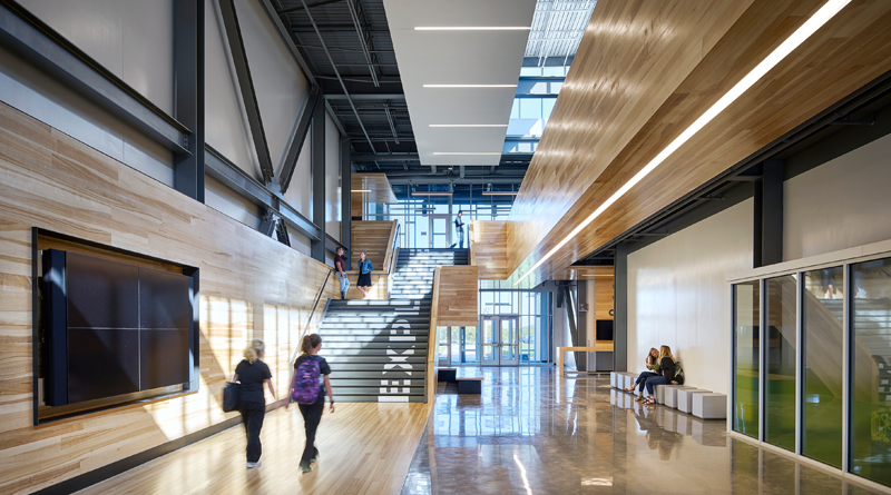 Facility of the month a dual purpose campus school - Interior design school los angeles ...