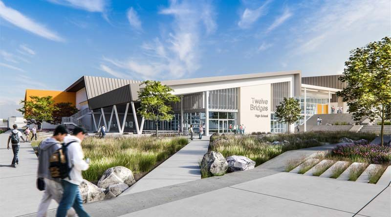 Construction Progresses on Spacious New California High School