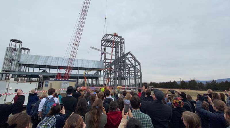 Virginia College Tops Out Chapel Project